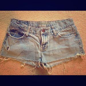 Frayed American Eagle Jean Shorts
